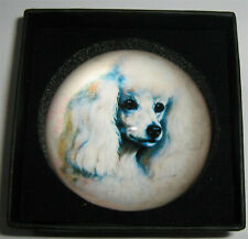 """""""Poodle"""" Decorative Dog Crystal Paperweight"""