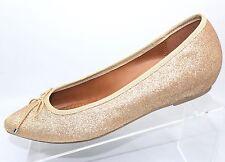 NWOB Candies Womens Flats Shoes Bolero Gold Glitter Metallic Size:9M RP: $39.99