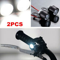 2Pcs LED Motorcycle Handlebar Spotlight Headlight Driving Light Fog Lamp White