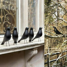 Realistic HOUSE BIRD Black Bird Eames Home Decor Desk Ornament New