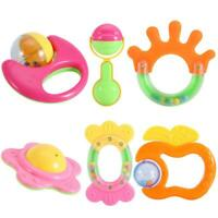 High Quality Baby Rattles Teether Grab Toys Shaking Bell Rattle Toy Gift Set