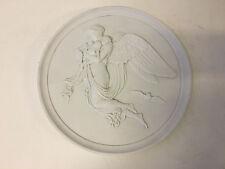 Vintage Antique Early Royal Copenhagen Denmark Bisque Porcelain Plaque Angel