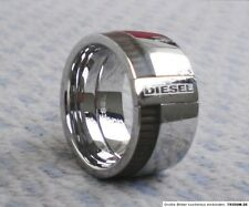 DIESEL MEN'S  POLISHED STAINLESS STEEL RING DX0320  Sz. 8