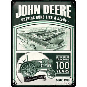 John Deere 100 Years Limited Edition Blechschild Tin Sign 3D geprägt 30 x 40 cm