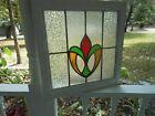 K8-278 Very Pretty Leaded Stained Glass Window F/England 20 3/8' X 20 1/4'
