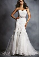 Alfred Angelo wedding dress style 2506 size 4 ivory / pearl