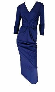 ISSA LONDON Dark Blue Caitlin Maxi Stunning Dress