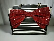 NWT Betsey Johnson Large Red Bow Satchel MSRP $108