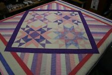 "Hand Made Quilt ""UNCONDITIONAL"" Design by Quilt-Addicts 204cm square"