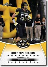 QUENTON NELSON 2014 LEAF U.S. ARMY ALL-AMERICAN ROOKIE CARD! NOTRE DAME/COLTS!