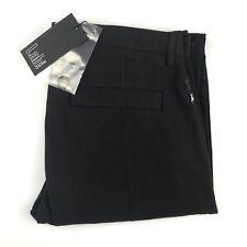 Pal Zileri Lab Men's Black Casual Flat Front Chino Slim Pants Size 33