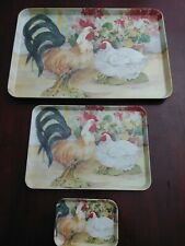 Monza Plastic Tray Set Made In Italy Vintage Import kitchen wear 80s 90s 00s