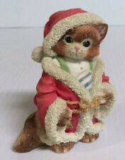 Enesco Calico Christmas Cat Kitten Jolly Old St. Nicholas 1995 Priscilla Hillman