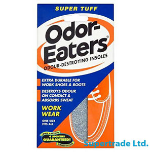 Odor-Eaters Odoreaters Super TUFF Deodorizing Charcoal Insoles Washable - 1 Pair