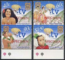 Tuvalu 2001 SG#1005-8 TV Corporation Optd Specimen MNH Set #A86203