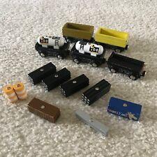 Lot of 5 wooden trains & accessories Imaginarium compatible w Thomas & Friends