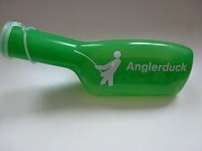 Angel Zubehör Farbige-Urinflasche in Grün mit Anglerduck Schriftzug in weiß!