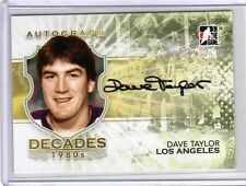 DAVE TAYLOR 10/11 ITG Decades 1980s Auto Autograph #DT Hard-Signed Hockey Card