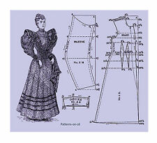 80+ Victorian period costume patterns cutting Dress making Guide on CD