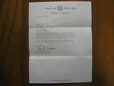 VAN  WASHER  Signed 1969  Personal  Letter  SAMFORD  Men's Basketball Head Coach