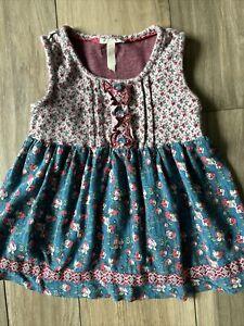 ❤️Matilda Jane Girls Sz 6 Floral Serendipity Summer Dress Tunic