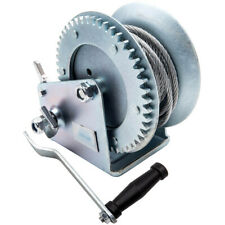 Manual Hand Winch 2500lbs Heavy Duty for Car Boat 10m Cable 1360 Kg