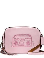 COACH NEW KEITH HARING BOOMBOX LEATHER CAMERA CROSSBODY PINK VINTAGE BAG PURSE