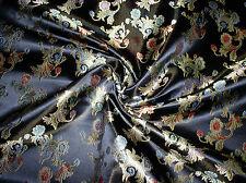 Chinesische-Jacquard mit Fleur-Motiv in Schwarz