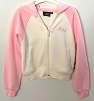 BNWT Kangaroo Poo Pink & Cream Zipped Hooded Jacket Hoodie Age 5-6