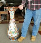 Huge Antique Japanese Porcelain Floor Vase Kutani Arita Imari Elders & Samurai
