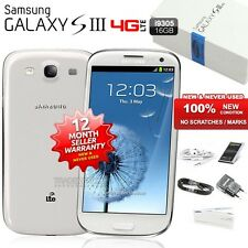 New Sealed Unlocked SAMSUNG Galaxy S3 SIII I9305 White 4G Android Mobile Phone