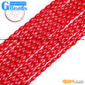 """3x5mm Pink White Red Coral Gemstone Column Olivary Beads For Jewelry Making 15"""""""