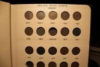 INDIAN HEAD CENT PARTIAL COLLECTION IN DANSCO 1857-1909 album 56 pennies