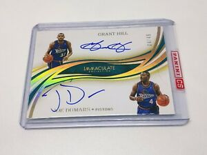 2019-20 Immaculate Collection Dual Autographs Auto JOE DUMARS/ GRANT HILL 04/49