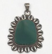 Jade Pendant Mexico Sterling Silver