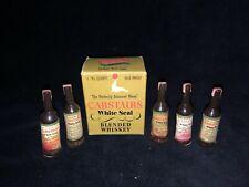 VTG Miniature Carstairs Whiskey Bottles w/ Hidden Lipstick~Christy Cosmetics