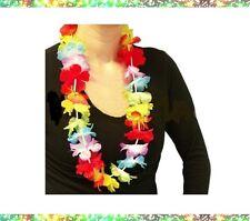 Lot de 10 Colliers à fleurs Déguisement de Fête Iles Tahiti Mariage Anniversaire