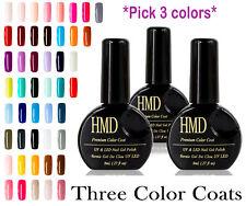 3 pcs value pack HMD Soak Off  Premium UV LED high shine Gel Nails Polish Canada