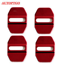 W/LOGO Red Car Door Lock Cover Caps For Most of Infiniti Q50L QX50 QX30 QX60 ESQ