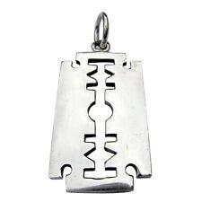 Sterling Silver (925)   Razor  Blade  Pendant   !!    Brand  New !!