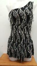 Dance Costume Small Adult Black Sequin Fringe Weissman Tap Clogging Jazz Solo