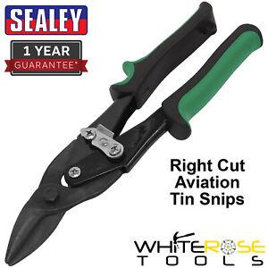 Sealey Aviation Tin Snips Right Cut Tin Snip Metal Cutters
