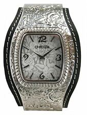 Chico's Women's Antique Silver-Tone Slip-On Bangle Watch CH-259BK. New & unworn.
