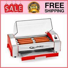 Hot Dog Roller Grill Cooker Machine 6 Sausage Capacity Machine Non Stick