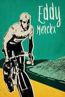 Eddy Merckx Rennrad Blechschild Schild gewölbt Metal Tin Sign 20 x 30 cm FA0858
