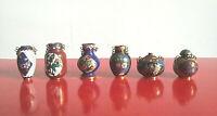 Antiche sei mini anfore in porcellana Cinese Vintage