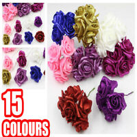 12 x 6cm Colourfast Artificial Foam Rose. Wedding/Craft Flowers 2 bunches of 6