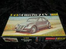 VINTAGE HELLER 1/43 Model Car Kit 175 Citroën 2CV Unmade in Box 1970s