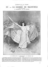 WWI Marthe Chenal La Marseillaise Opéra-Comique Paris Georges Scott ILLUSTRATION