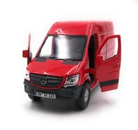 Mercedes Benz Sprinter Panel Van Red Model Car With Desired License Plate 1:3 4